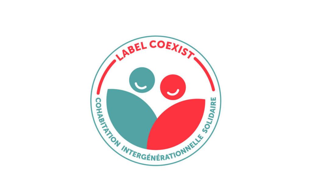 Logo du label COEXIST, label de cohabitation intergénérationnelle